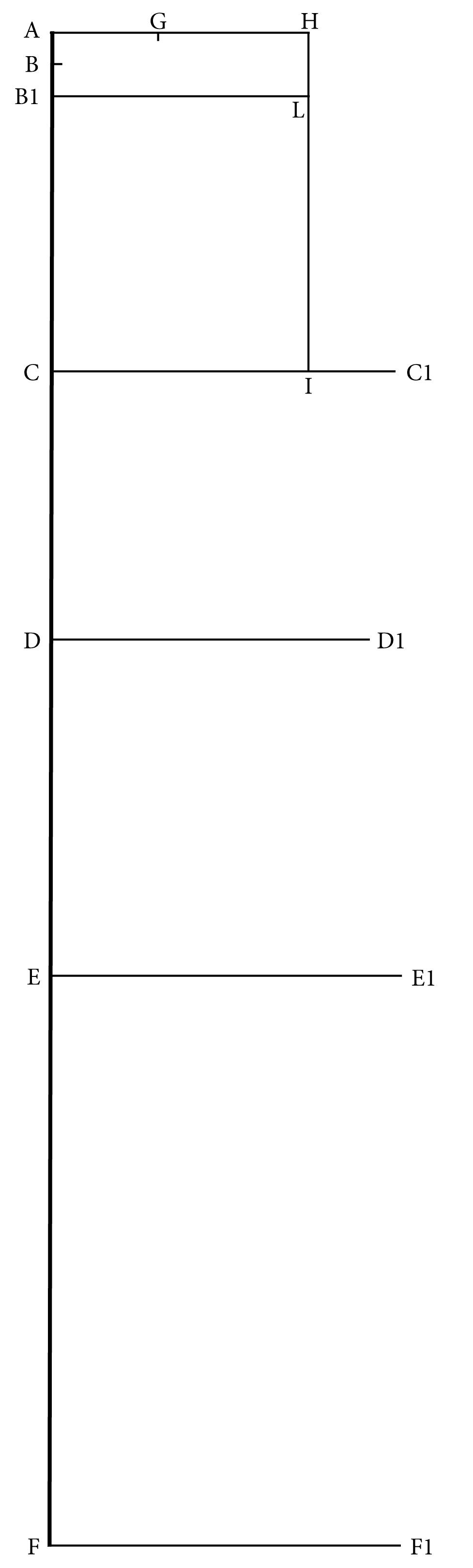 1. Piirrä takakappaleen raamit