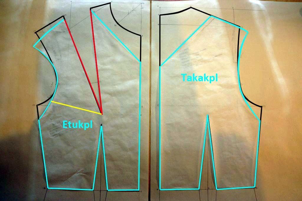 1. Kuosittele yläosan kaavat